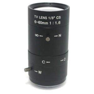 6-60mm f/1.6 zoom lens