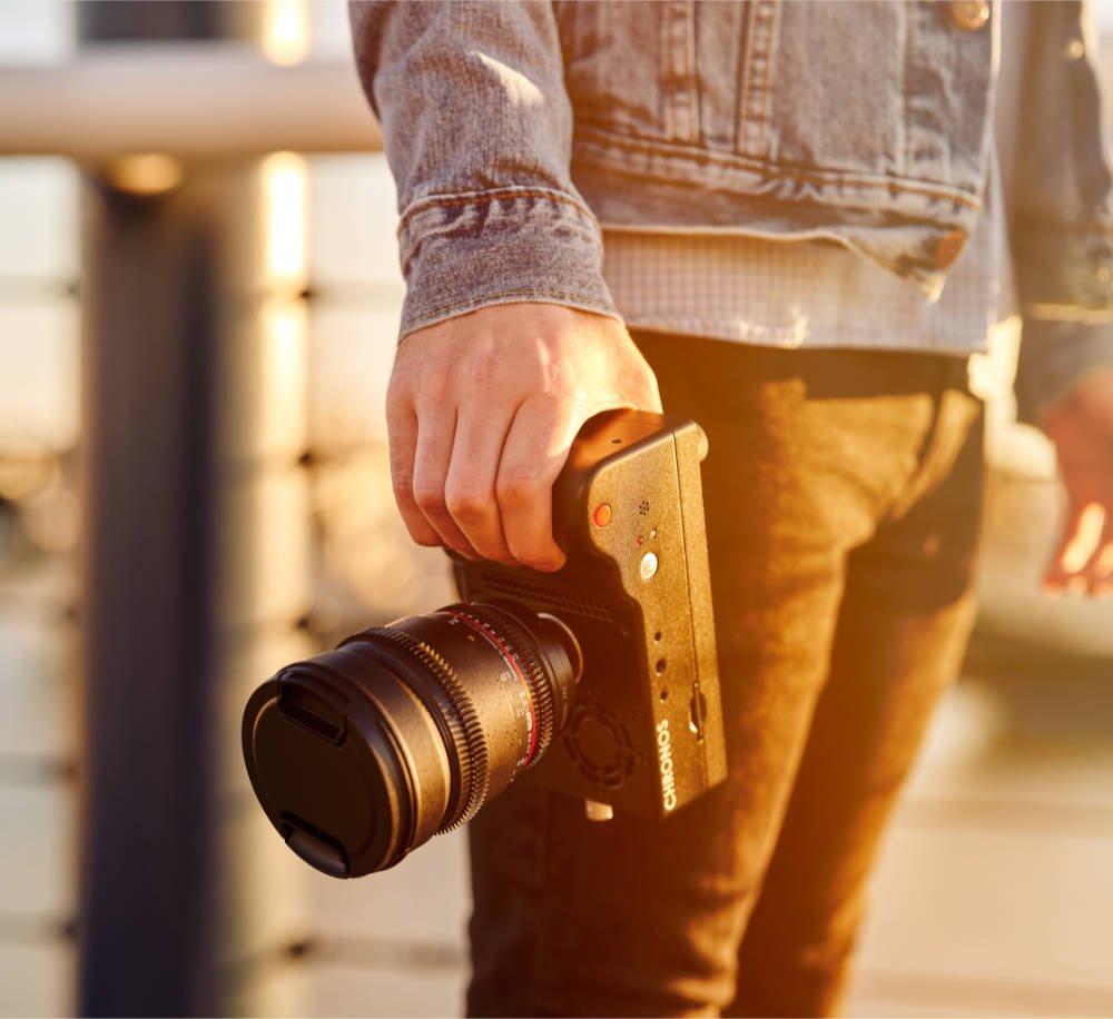 Chronos camera with lens